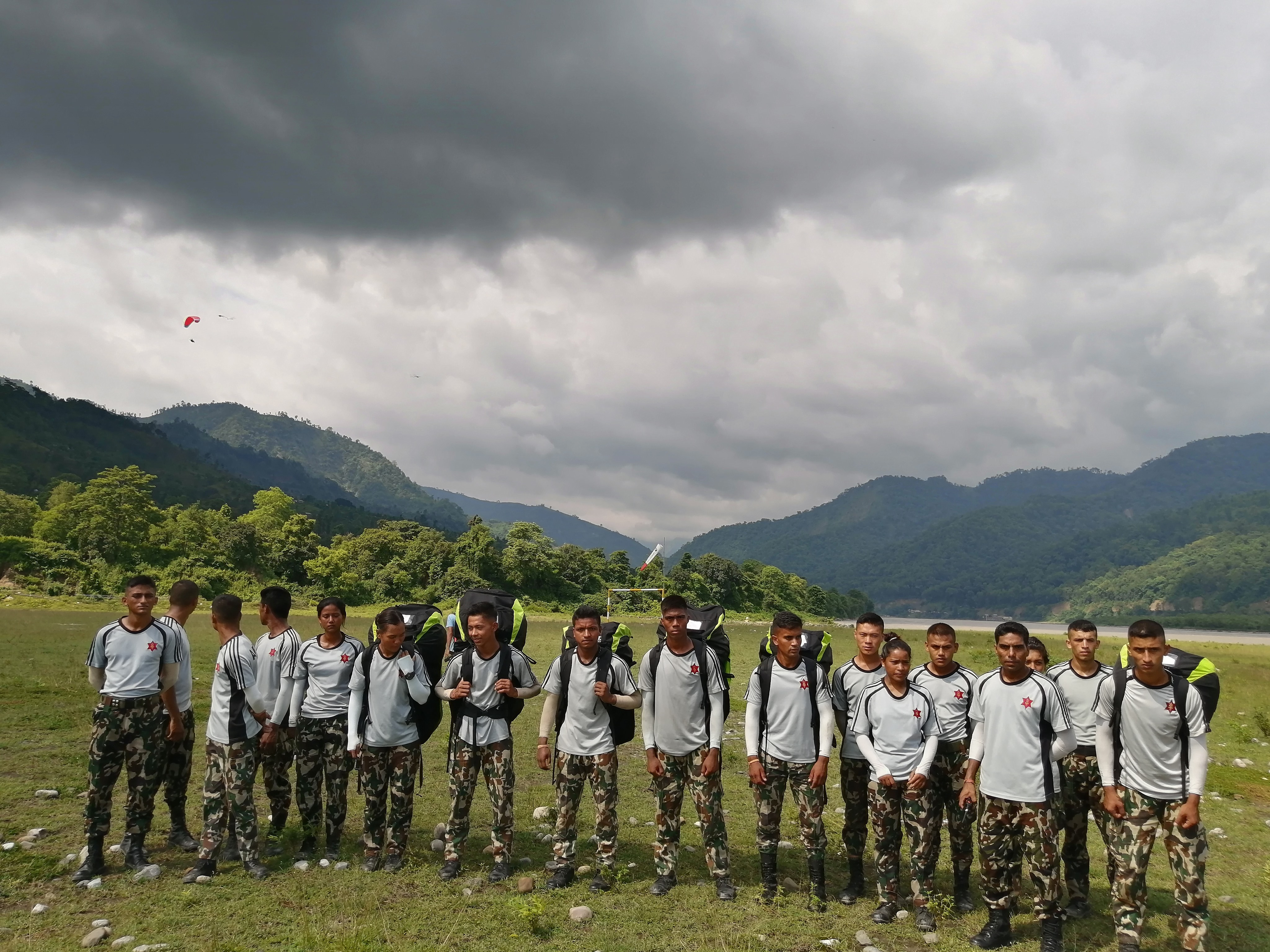 participants of nepal army paragliding first batch training in udayapur pradeshportal.com birat anupam